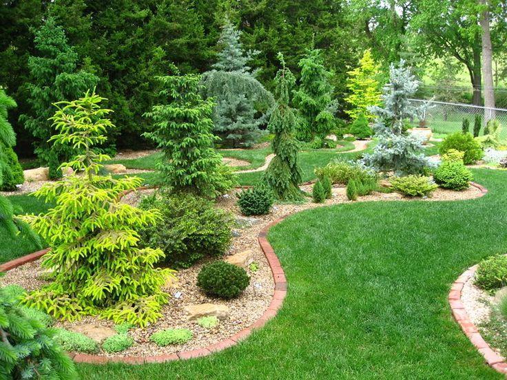 Conifer Garden Design Ideas For Front Yard Conifer Bed Design Unique Garden Ideas Pinterest Conifers Garden Evergreen Landscape Garden Design
