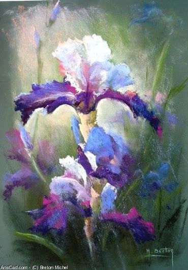 Michel Breton Flower Painting Flower Art Drawings