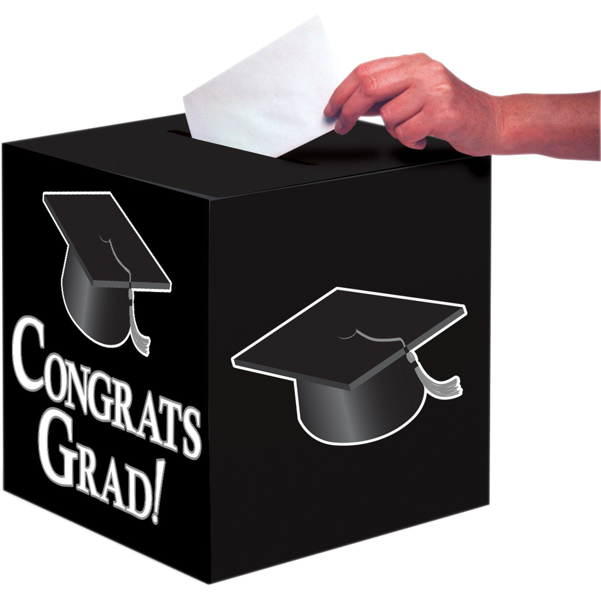 Congrats Grad Red Card Box Graduation Decoration