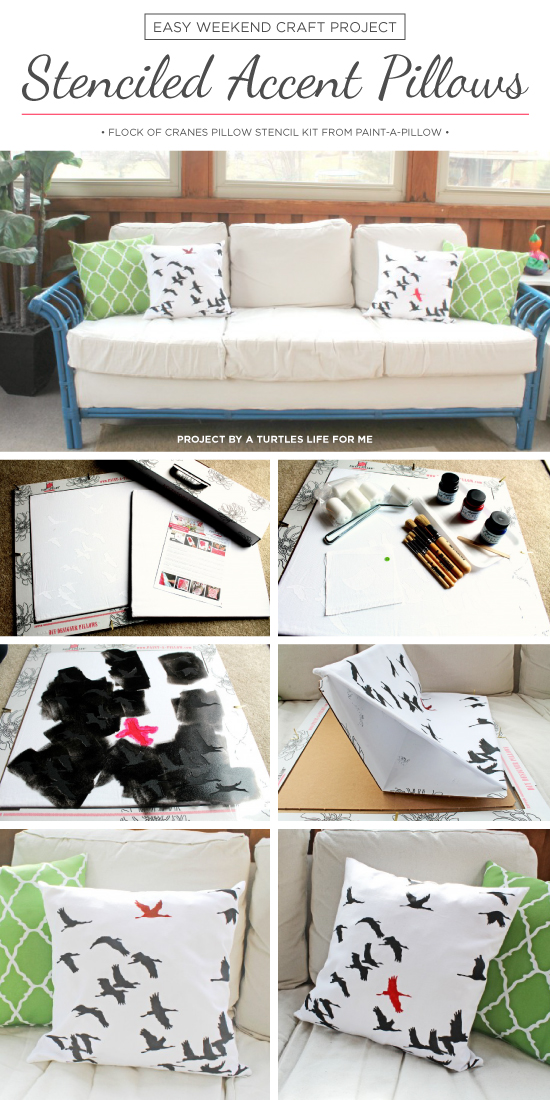 Easy Stenciled Pillows | Stenciled