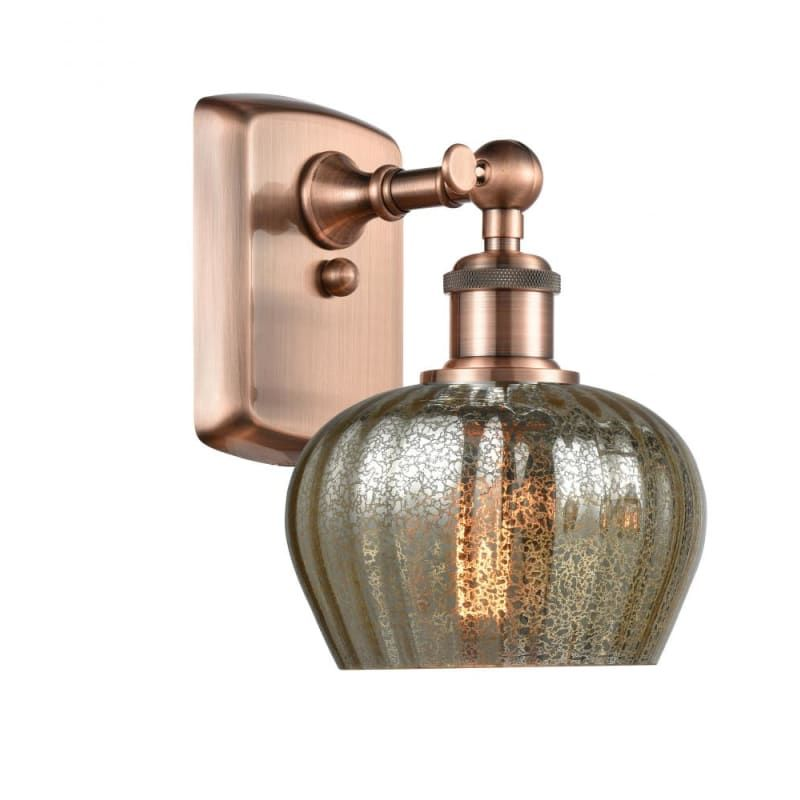 Photo of Innovations Lighting 516-1W Fenton Fenton 11″ Tall Bathroom Sconce Antique Copper / Mercury Indoor Lighting Bathroom Fixtures Bathroom Sconce