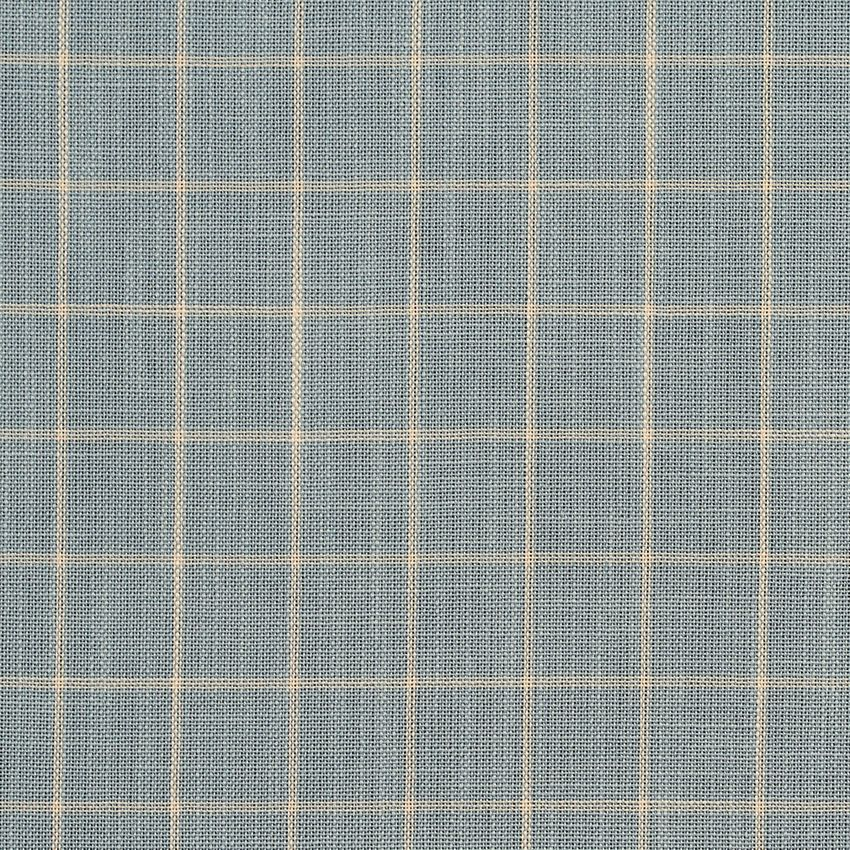 Cornflower Checkerboard Beige And Blue Check Tweed Drapery And