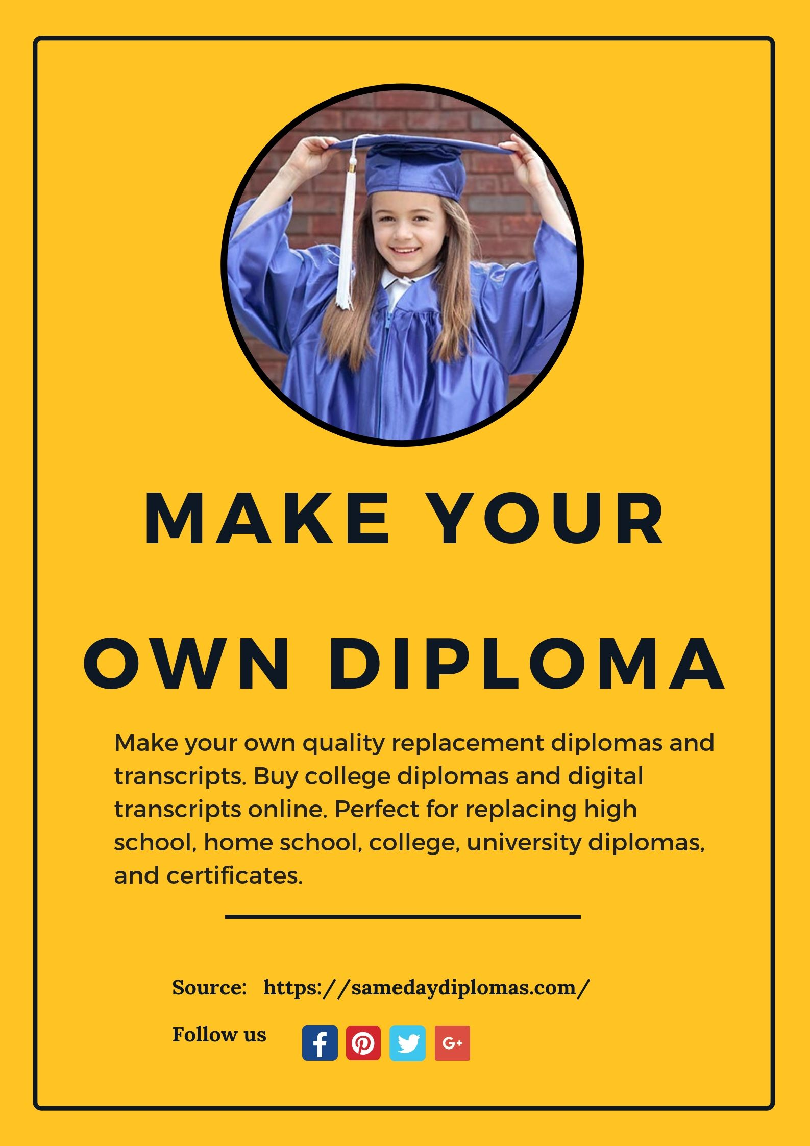 make your own diploma with sameday diplomas professionally designed