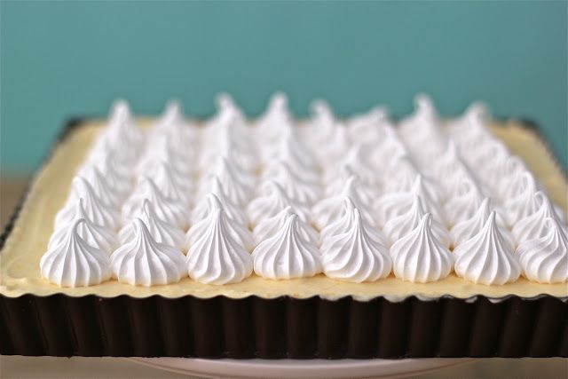 Lemon Mousse Meringue Tart