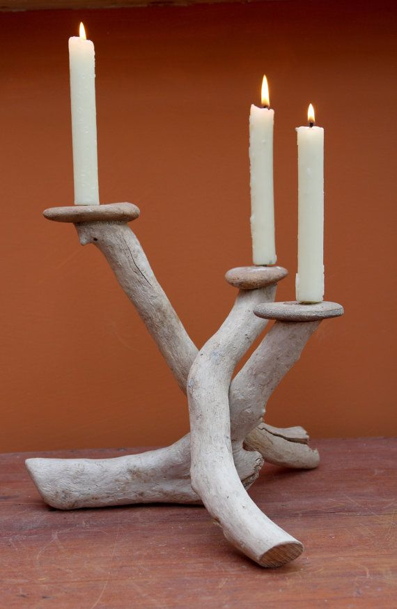 Driftwood Candle HolderDriftwood by JuliasDriftwood on Etsy