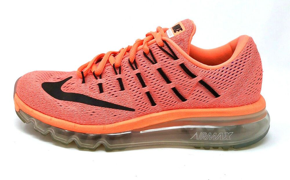 new style a42e2 33c11 Nike Air Max 2016 Womens Size 7 Running Shoes Hyper Orange Black 806772-800  EUC  Nike  RunningShoes