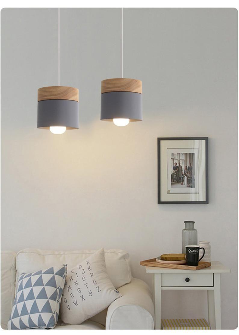 Nordic Wood Pendant Lights Dinning Area Lamps Pendant Lamps Ceiling Lights Living Room Restaurant Bar Light No Bulb In 2021 Lampen Wohnzimmer Holzpendelleuchte Anhänger Lampen