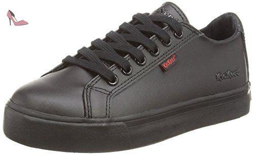 Kickers  Kickers Tovni Lace, Junior, Sneakers Basses garçon - Noir (Black) - 35 EU (Taille Fabricant : 2.5 UK) - Chaussures kickers (*Partner-Link)