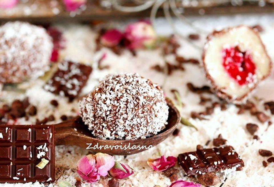 Čupave kuglice nadjevene malinama Paleo dessert, Food