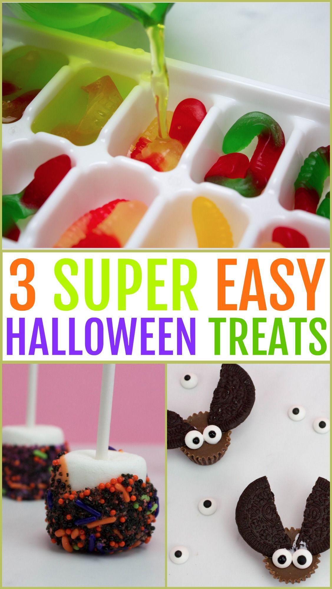 3 Easy Diy Halloween Treats Halloween Food For Party Halloween