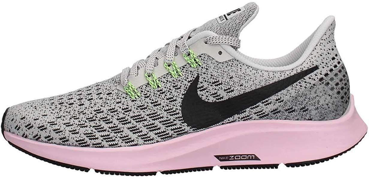 Shoes Nike Women S Air Zoom Pegasus 35 Vast Grey Black Pink Foam Lime Blast 8 5 Road Running Quick Womens Running Shoes Womens Athletic Shoes Nike Women