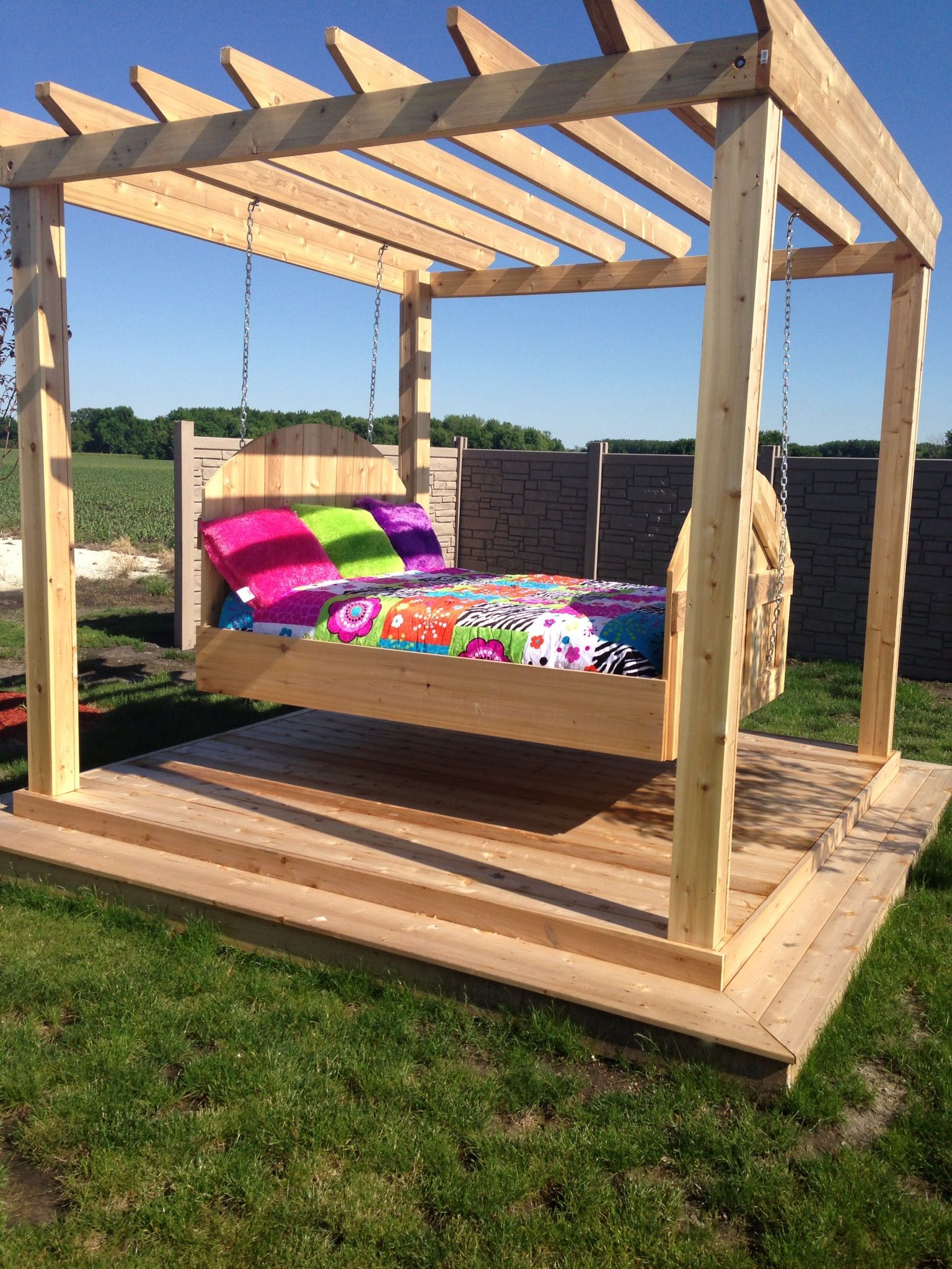 outdoor swing bed fun stuff pinterest outdoor swing beds