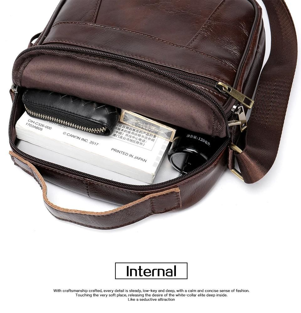 ae418df5450a4 Mini Messenger Bag For Men Small Shoulder Bag 100% Genuine Leather Men s  Crossbody Bags For Small iPad   Every Day Carry - Light Tan or Dark Tan
