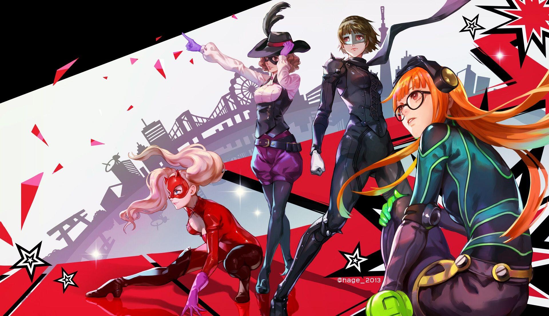 ペルソナ5 P5 girls hageのイラスト Persona 5, Persona 5 ann