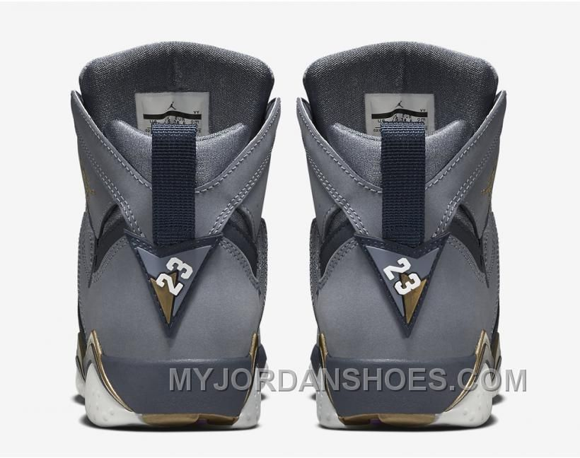 big sale f0199 beb88 Authentic 442960-407 Air Jordan 7 Retro Girls Blue Dusk Metallic Gold- Obsidian-White 7fD5Y