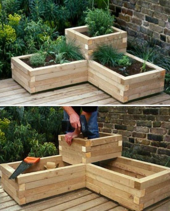 Raised Herb Garden Planter Ideas Quick Video Instructions Raised Garden Beds Diy Diy Raised Garden Diy Garden Bed