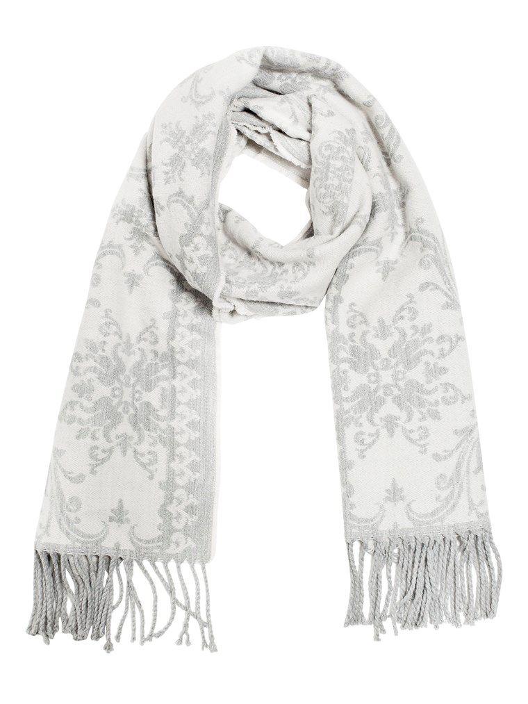 Letar du efter en ny scarf till dam  Hos KappAhl hittar du en grå mönstrad 45b166ec38df7