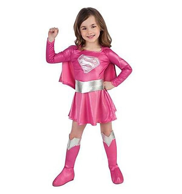new Cosplay Costume pink superman Costumes for kids Fancy dress ...