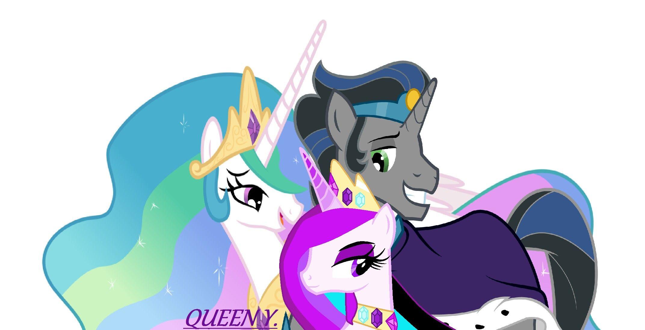 Mlp Royal Family King Sombra Queen Celestia And Princess Rainy