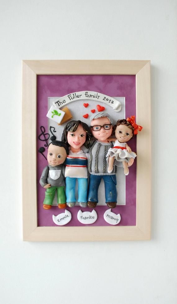 Personalized Family Sculpture 40th Anniversary Gift For Parents Long Distance Picture Fra In 2020 Anniversary Gifts For Parents Family Sculpture 40th Anniversary Gifts