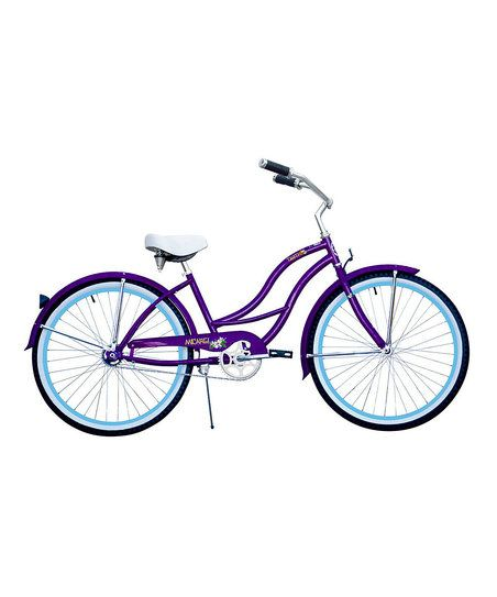 Glide through the streets in style on this bicycle boasting an easy-pedal mechanism and a classic, cruiser-style design.