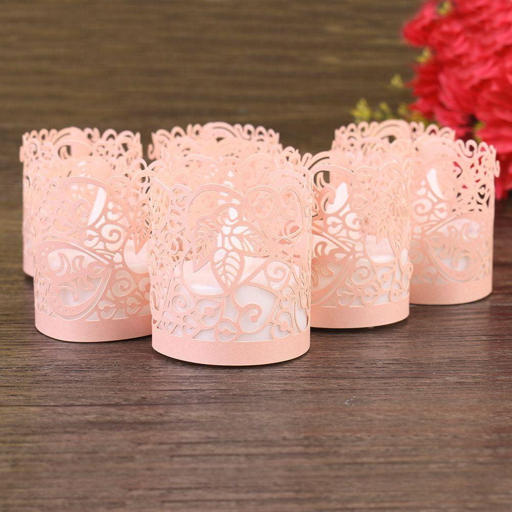 Details about 50Pcs Tea Light Candle Paper Wraps Flameless Votive ...