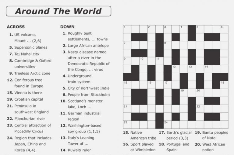 Crossword Puzzles For Adults Free Printable Crossword Puzzles