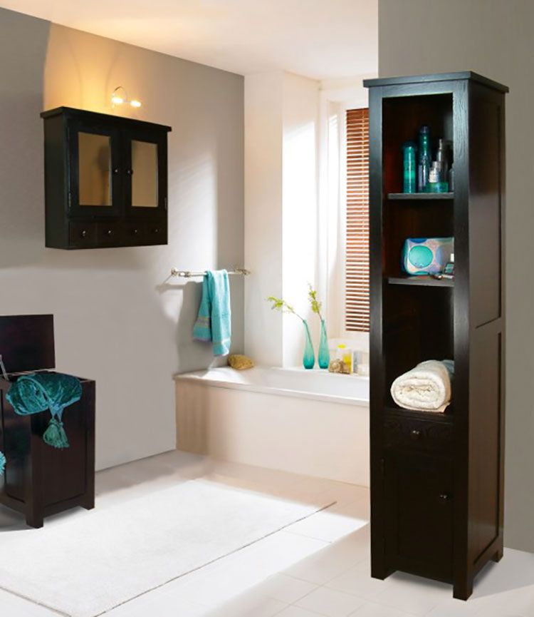 idee per scaffali e pensili da bagno n05