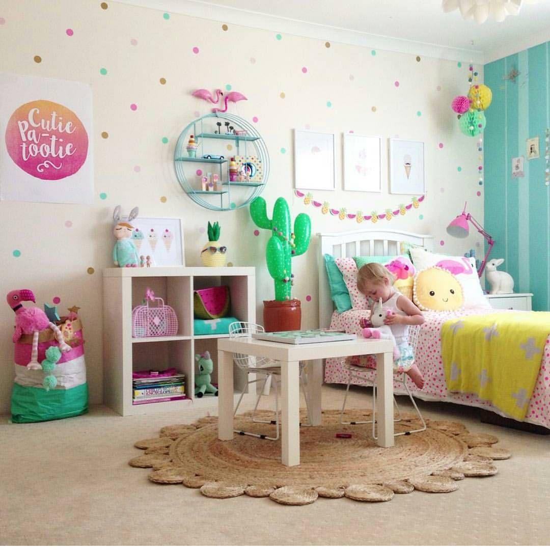 Pared lunares pieza ve decoracion habitacion ni o decoraci n dormitorio ni a y decoracion Decoracion paredes habitacion nina