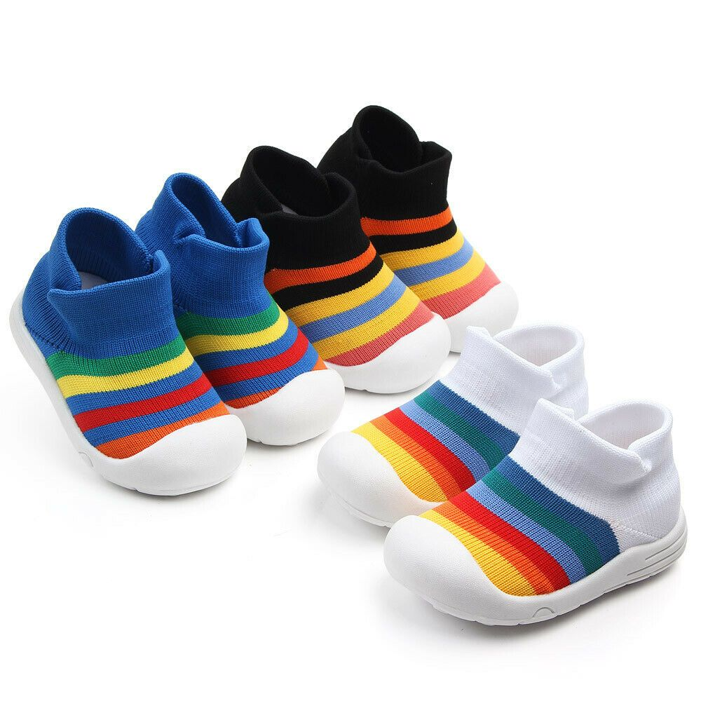 Unisex Baby Soft Sole Crib Shoes Breathable Anti Slip Sports Sneakers Prewalker