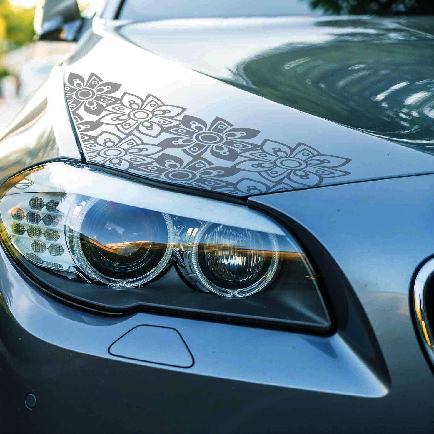 Flower Car Decal Set Cover Boho Scratches Carbon Fiber Etsy Boho Car Accessories Car Decals Car Accessories [ 1476 x 1476 Pixel ]