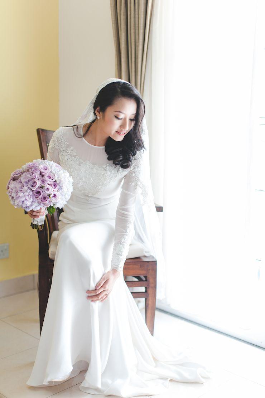 Kl Wedding Photography Malay Wedding At Laman Kayangan By Hafizudin Hamdan On Onethreeonefour Bride Reception Dresses Malay Wedding Dress Muslimah Wedding Dress