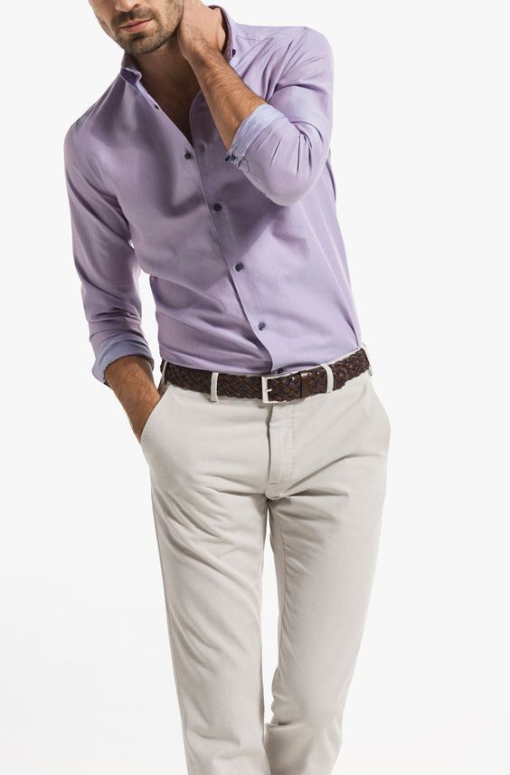 b8072f5e2b Resultado de imagen de combinacion camisa lila hombre