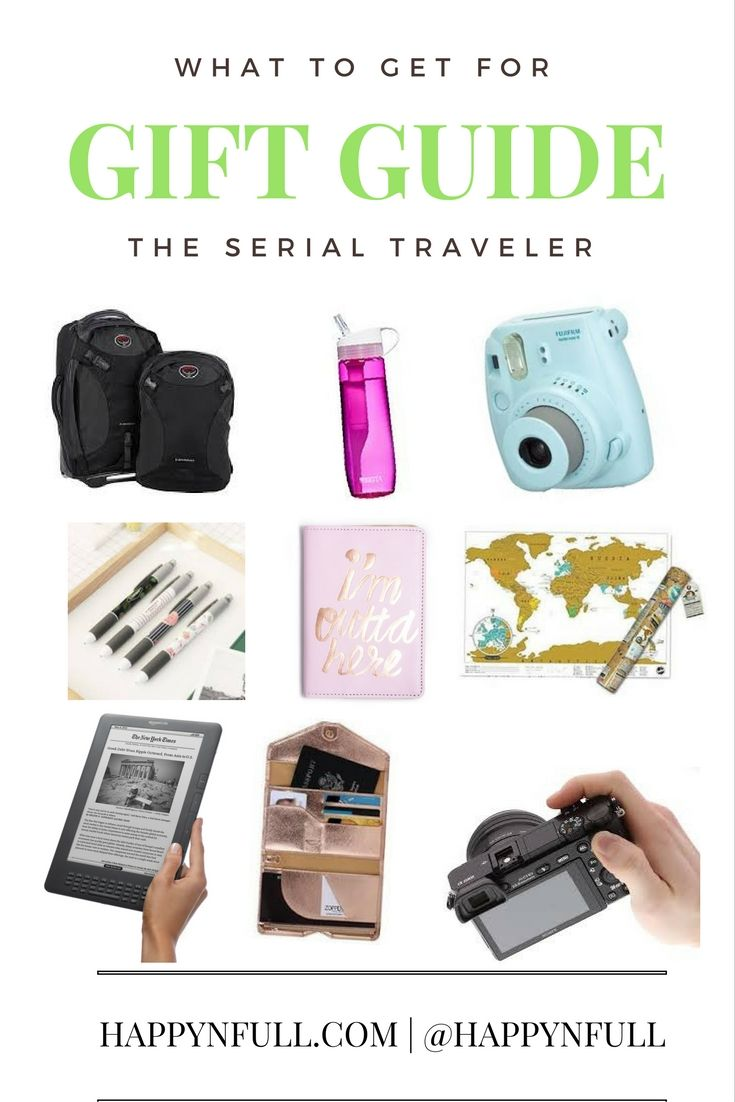 Ultimate Gift Guide for Travelers | Happynfull Budget Travel ...