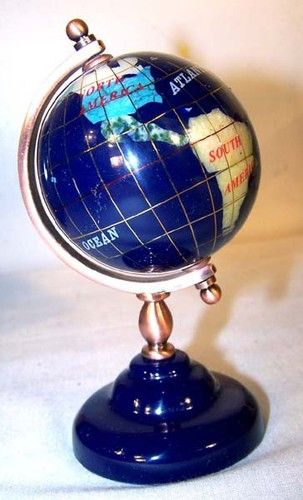 Vintage and antique world globes new gemstone globe 60mm desktop vintage and antique world globes new gemstone globe 60mm desktop world stones spinning atlas globes gumiabroncs Image collections