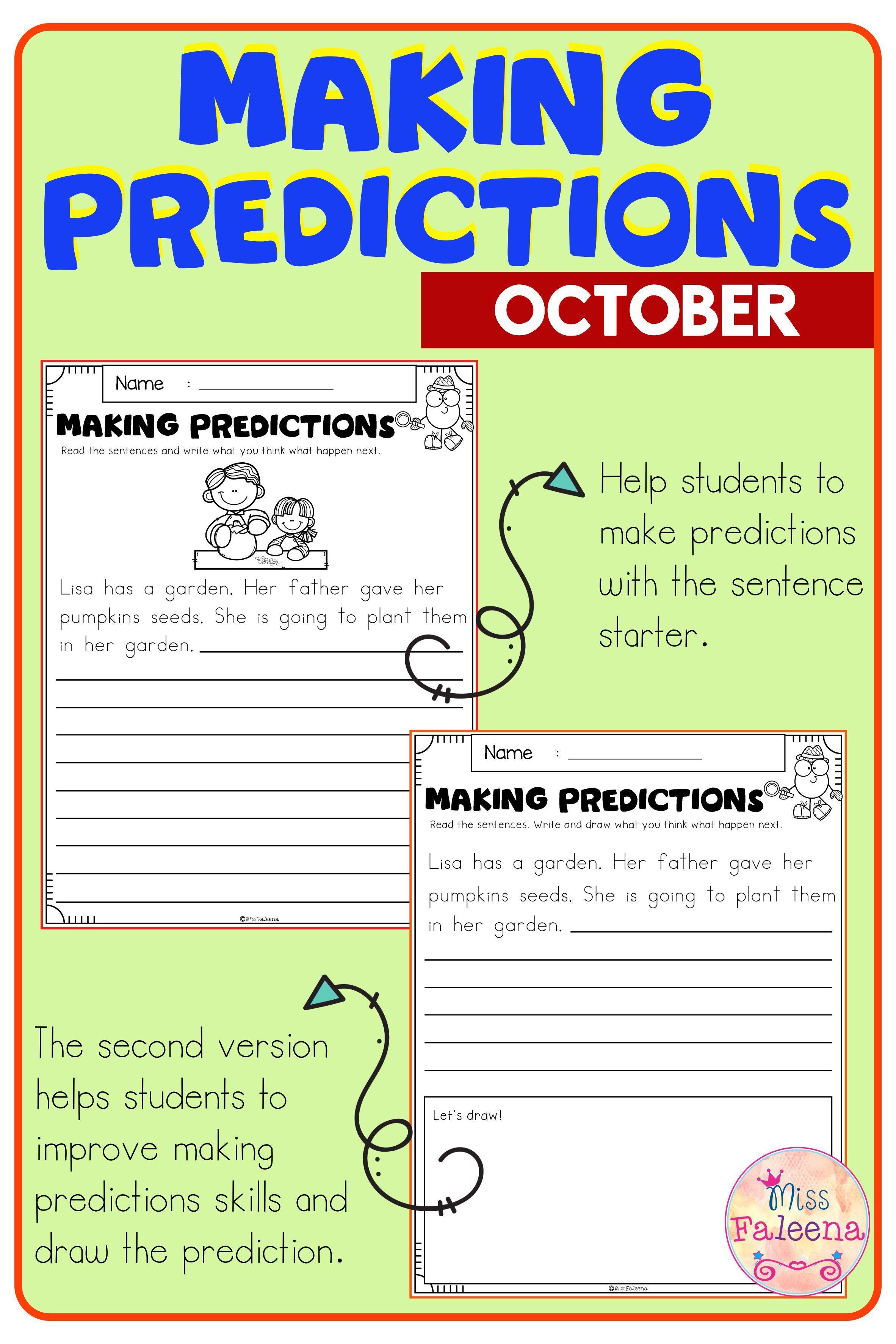 medium resolution of October Making Predictions   Making predictions