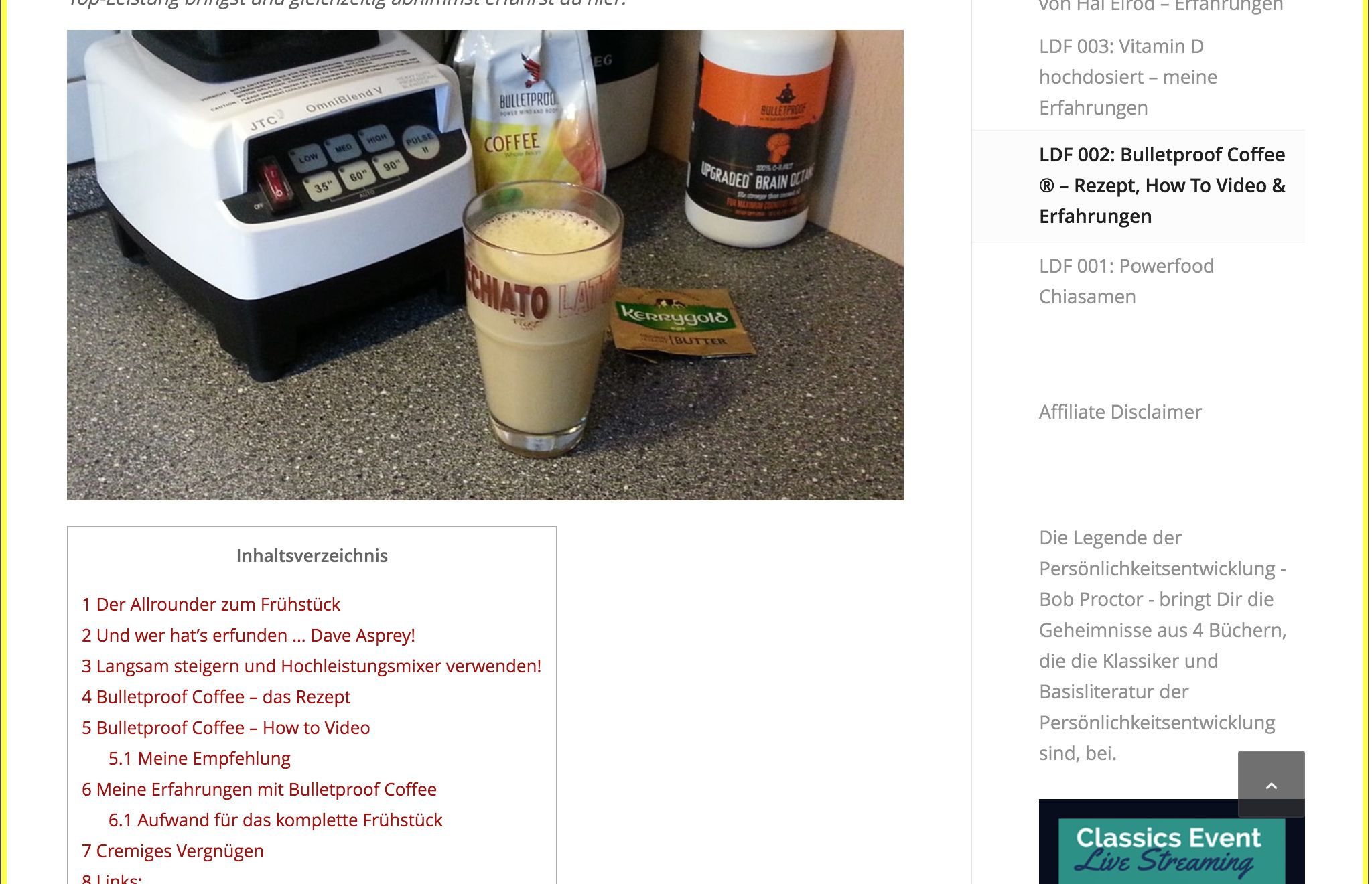 Ldf 2 Bulletproof Coffee Rezept Erfahrungen Leb Dich Fit