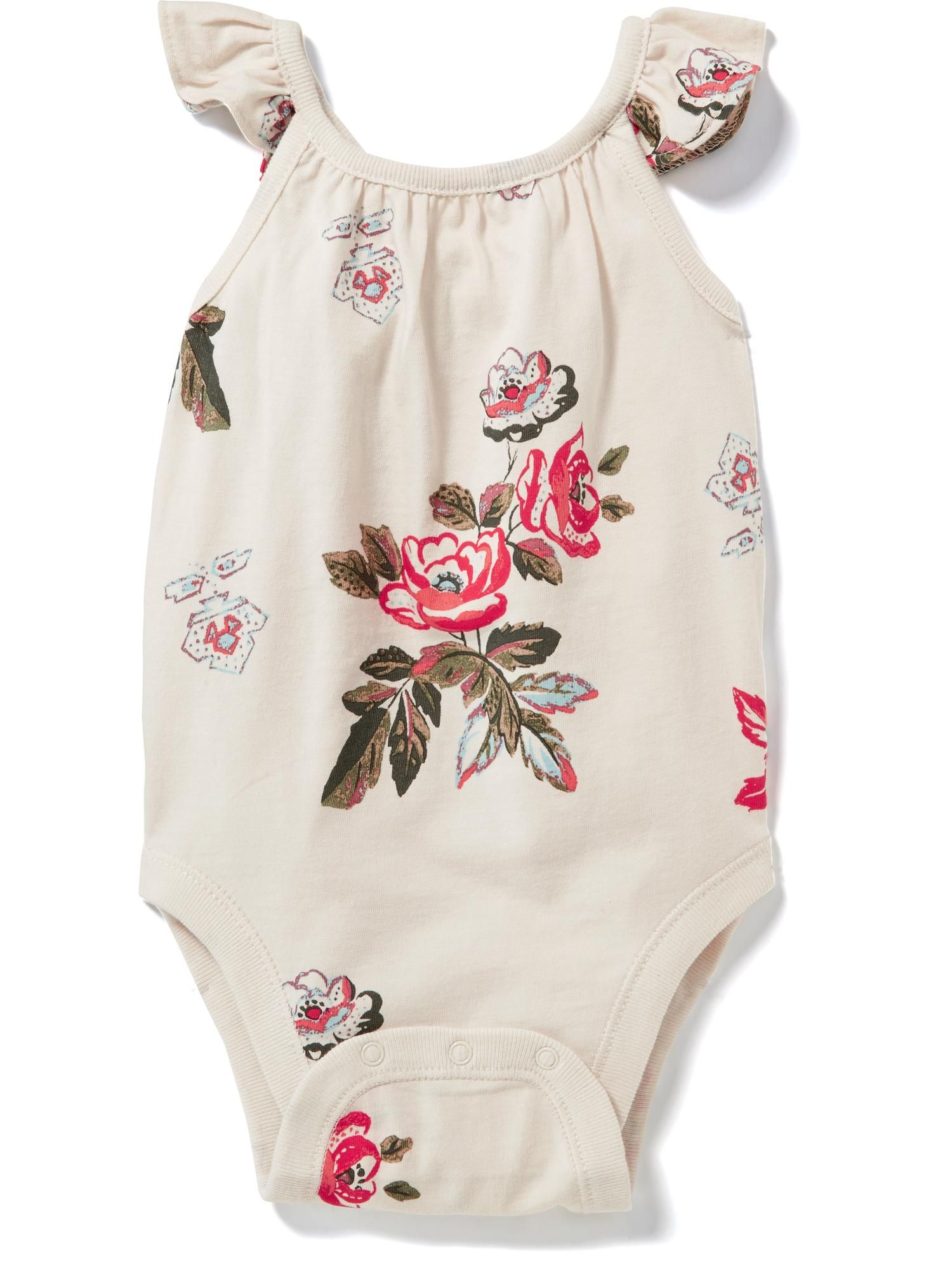 Flutter Sleeve Crossback Bodysuit for Baby Old Navy