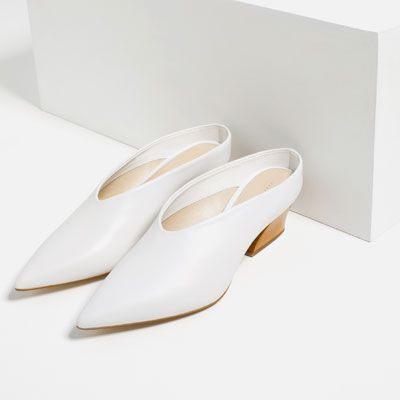 019ded64dc Image 5 of LEATHER MULE SHOES from Zara | Shoes | Shoes, Mules shoes ...