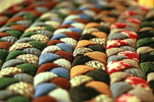 Handmade Braided Rugs Fabric Crafts Wool Rug