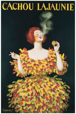 Cachou Lajaunie  by Leonetto Cappiello.  Framed in my dining room.