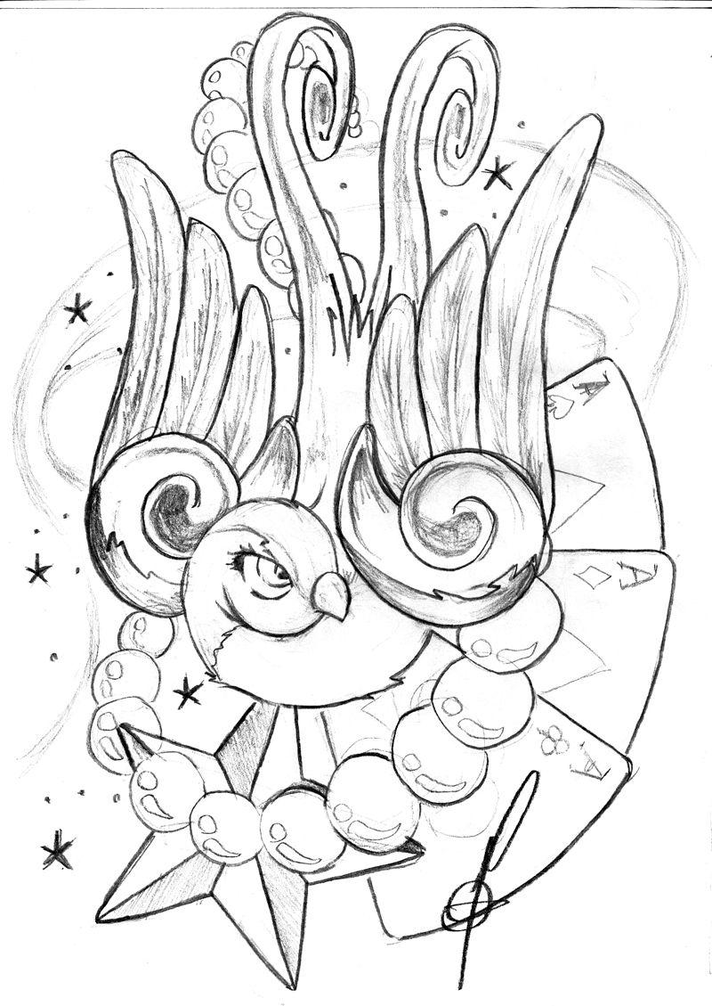 Bird tattoo Tattoo art drawings, Birds tattoo
