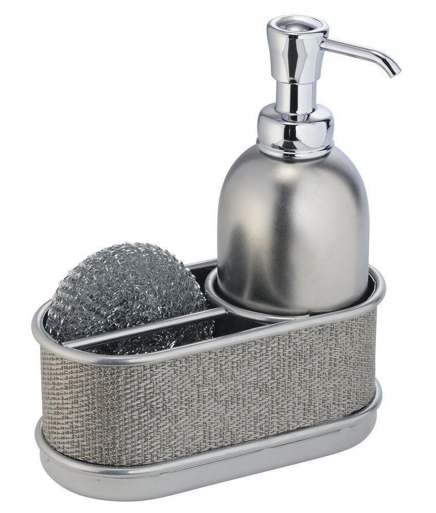 Mdesign Kitchen Sink Soap Dispenser Pump And Sponge Caddy Organizer For Kitchen Kitchen Soap Kitchen Soap Dispenser Soap Pump Dispenser