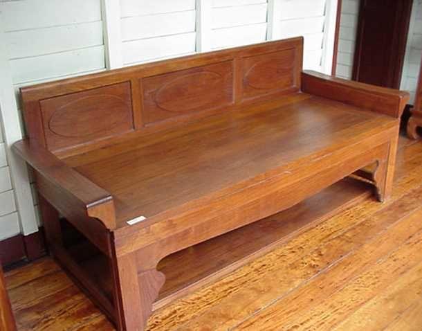 Old Chinese Thai Style Teak Daybed Hardwood Furniture