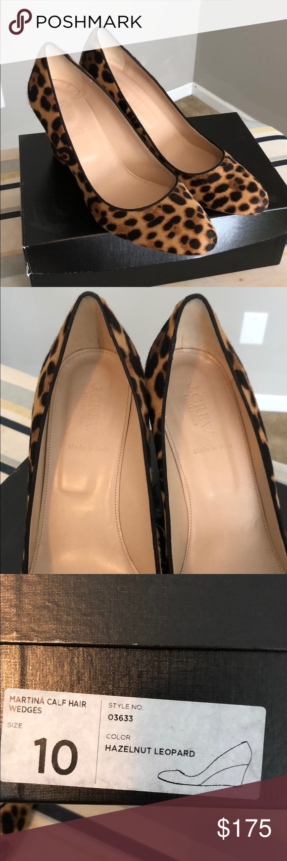 52a6f919272 J. Crew Martina Calf Hair Wedges Like new J. Crew Martina Calf hair wedges  in hazelnut leopard. Worn once. Beautiful shoes! J. Crew Shoes Wedges