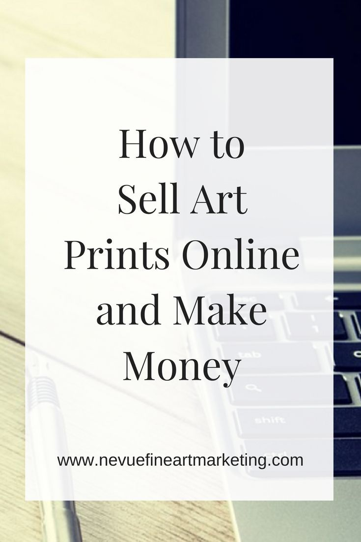 how to sell art prints online and make money
