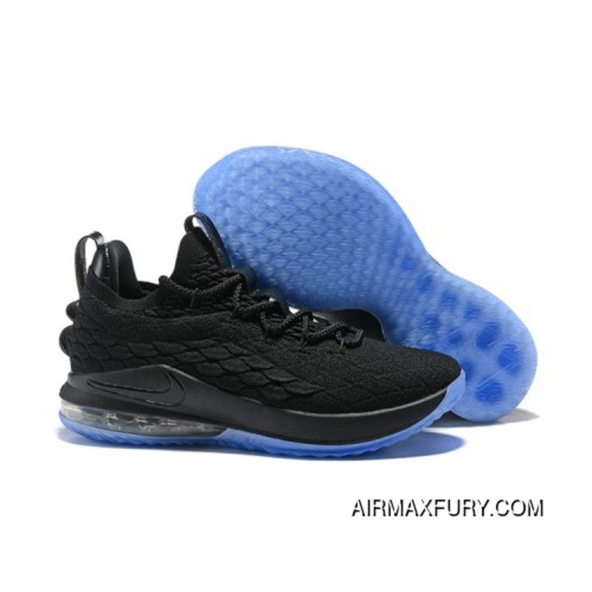 new arrival 26c83 41246 Lebron 15 Low Core Black Blue Latest | Shoes | Nike lebron ...