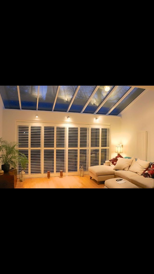Shutters on bifolding doors