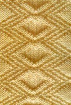 Patron de tricot à point libre en relief diamant – Knitting Kingdom   – Sricken