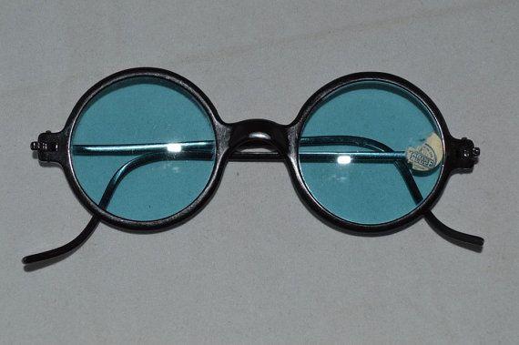 2e8de6486643 1930 S Bakelite MOD ROUND Black Vintage Sunglasses 30 s Frame Sun Glasses